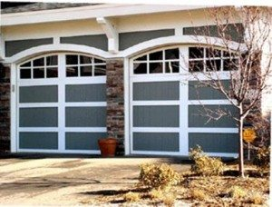 Architectural Gray Wood Garage Doors